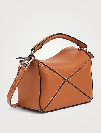 LOEWE Mini Puzzle Leather Bag Women's Brown