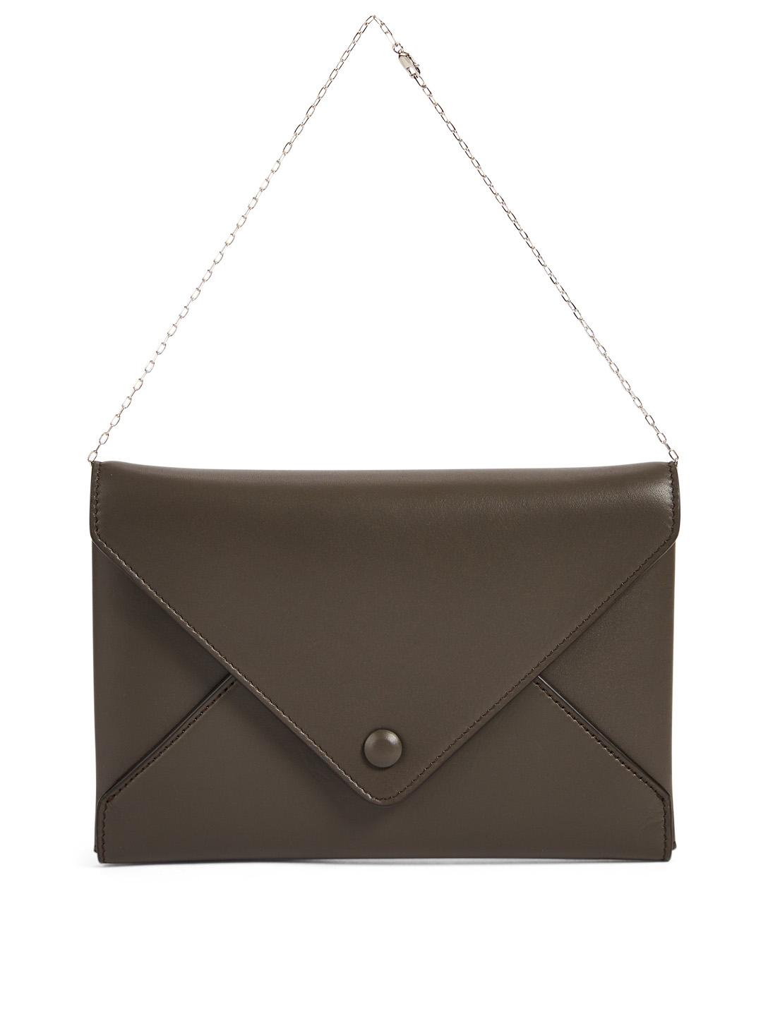 THE ROW Leather Envelope Pouch Bag Women's Grey