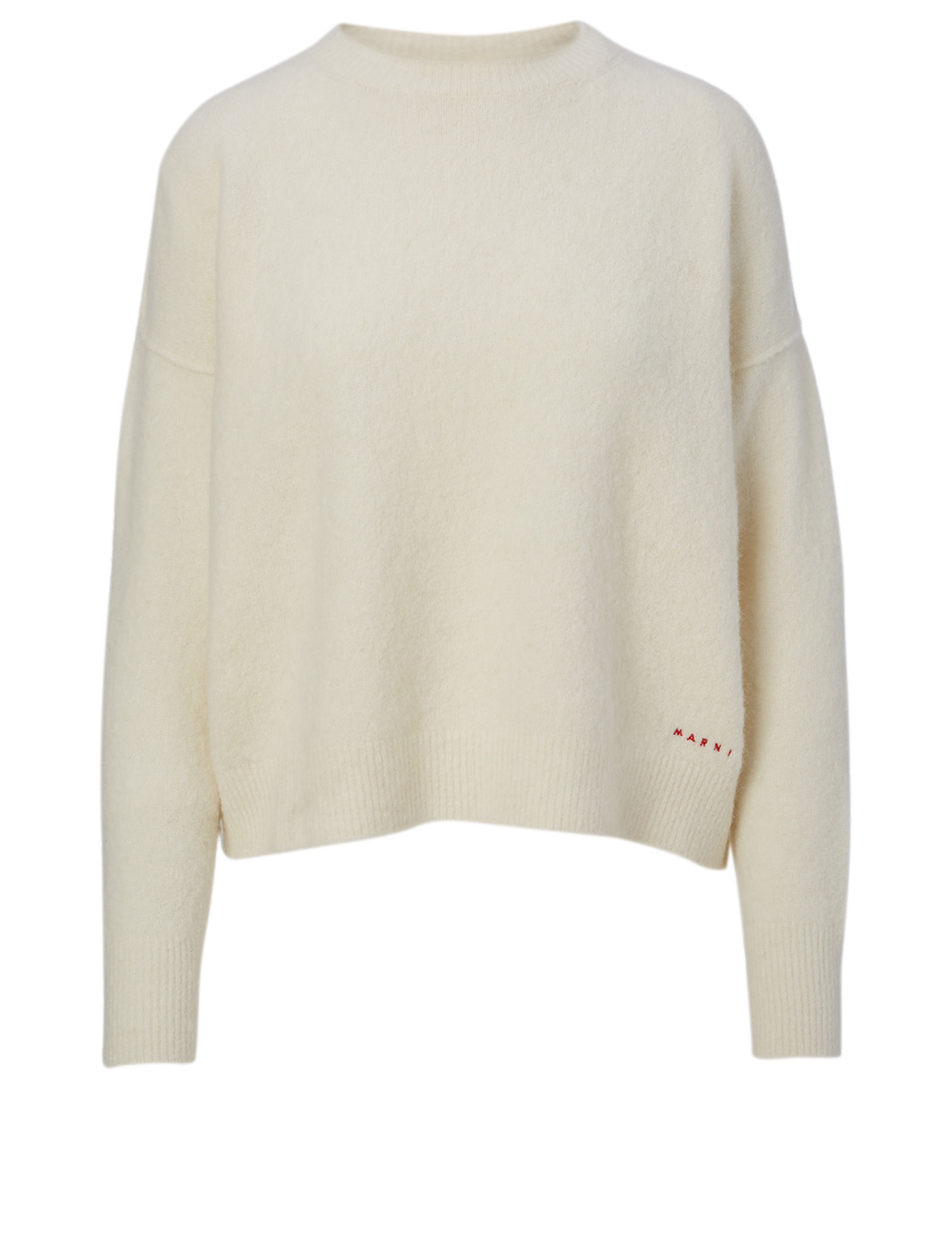 MARNI Wool Crewneck Sweater Women's White
