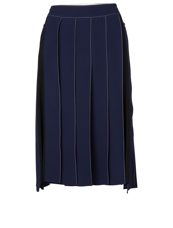 e9dfb16aa0 MARNI Satin Pleated Skirt Women's Blue ...