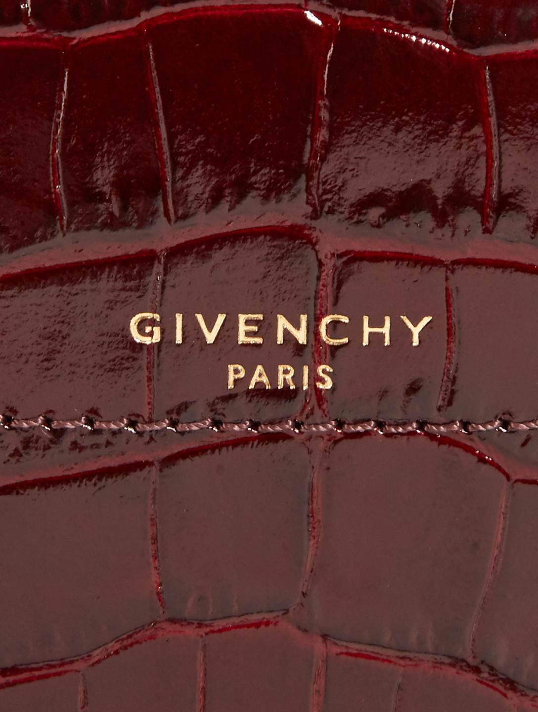 GIVENCHY Mini Eden Croc-Embossed Crossbody Bag Women's Purple