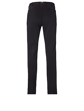 ERMENEGILDO ZEGNA Stretch Cotton Pants Men's Blue