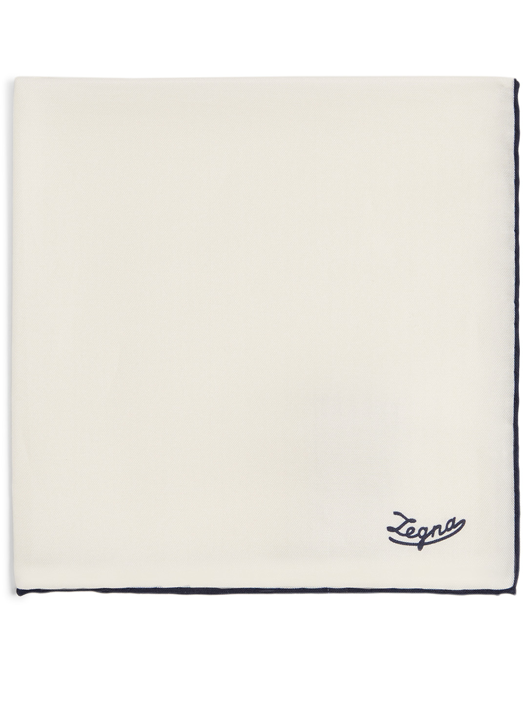 ERMENEGILDO ZEGNA Pocket Square With Logo Men's White