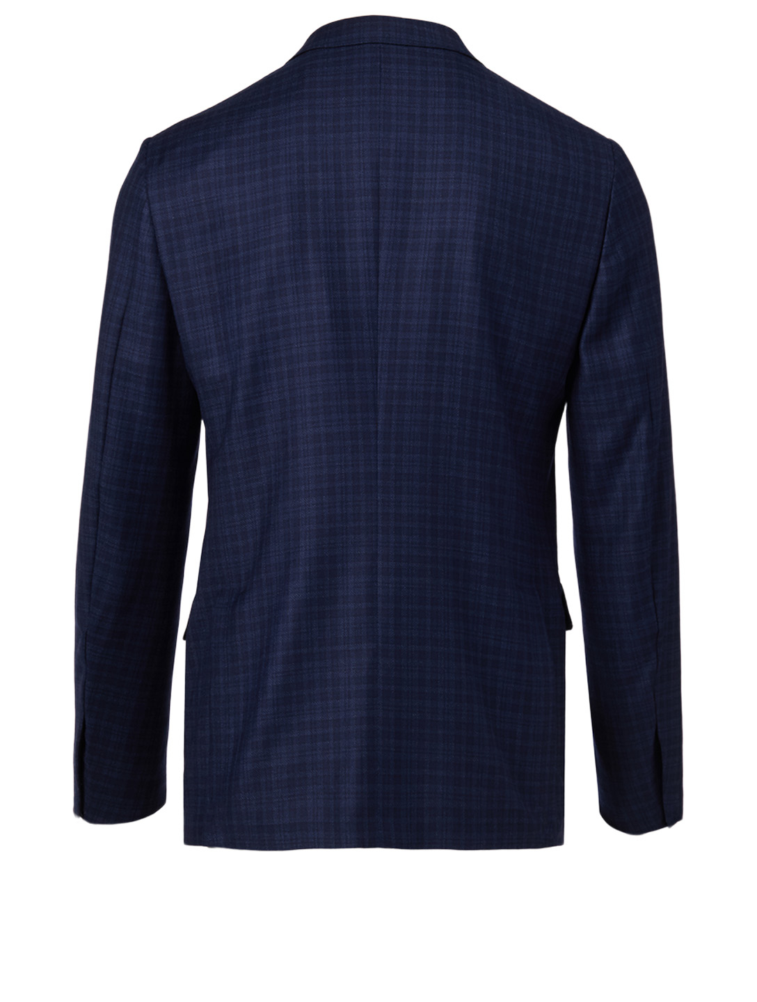 ERMENEGILDO ZEGNA Wool Jacket In Check Men's Blue