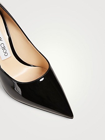 JIMMY CHOO Love 100 Patent Leather Pumps Women's Black