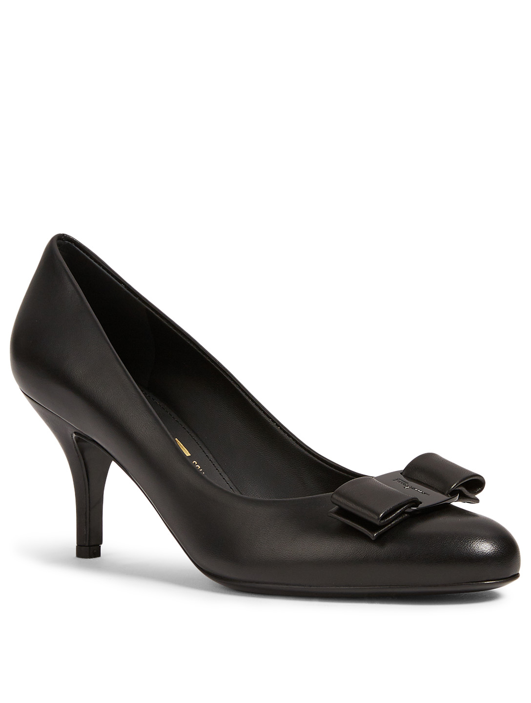 SALVATORE FERRAGAMO Carla 70 Leather Pumps Women's Black