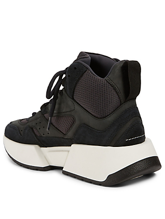 MM6 MAISON MARGIELA Flare Runner Suede High-Top Sneaker Women's Black