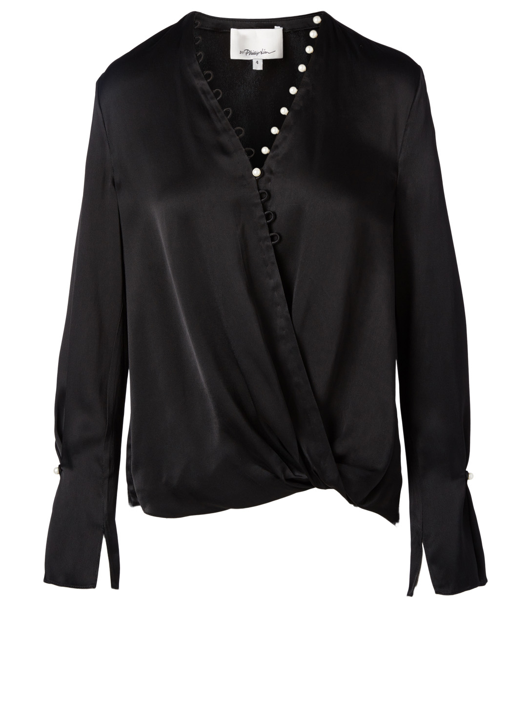 a69480e17dcff4 3.1 PHILLIP LIM Pearl Embellished Blouse Women's Black ...