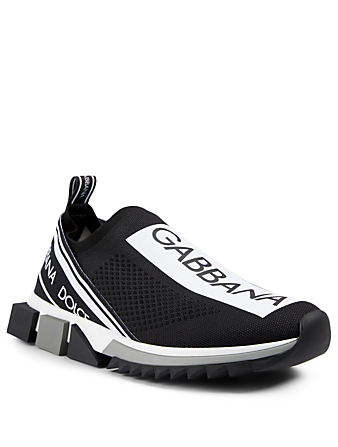 DOLCE & GABBANA Sorrento Stretch Mesh Sneakers With Logo Men's Black