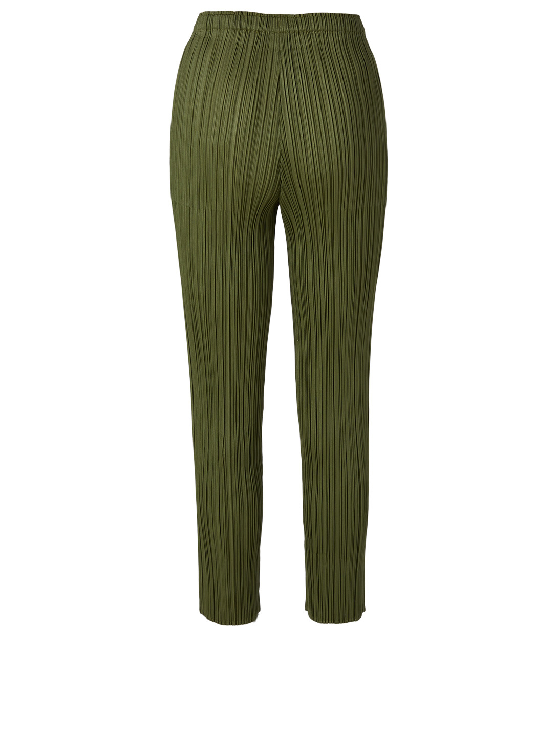 PLEATS PLEASE ISSEY MIYAKE Pleated Cropped Pants Women's Green