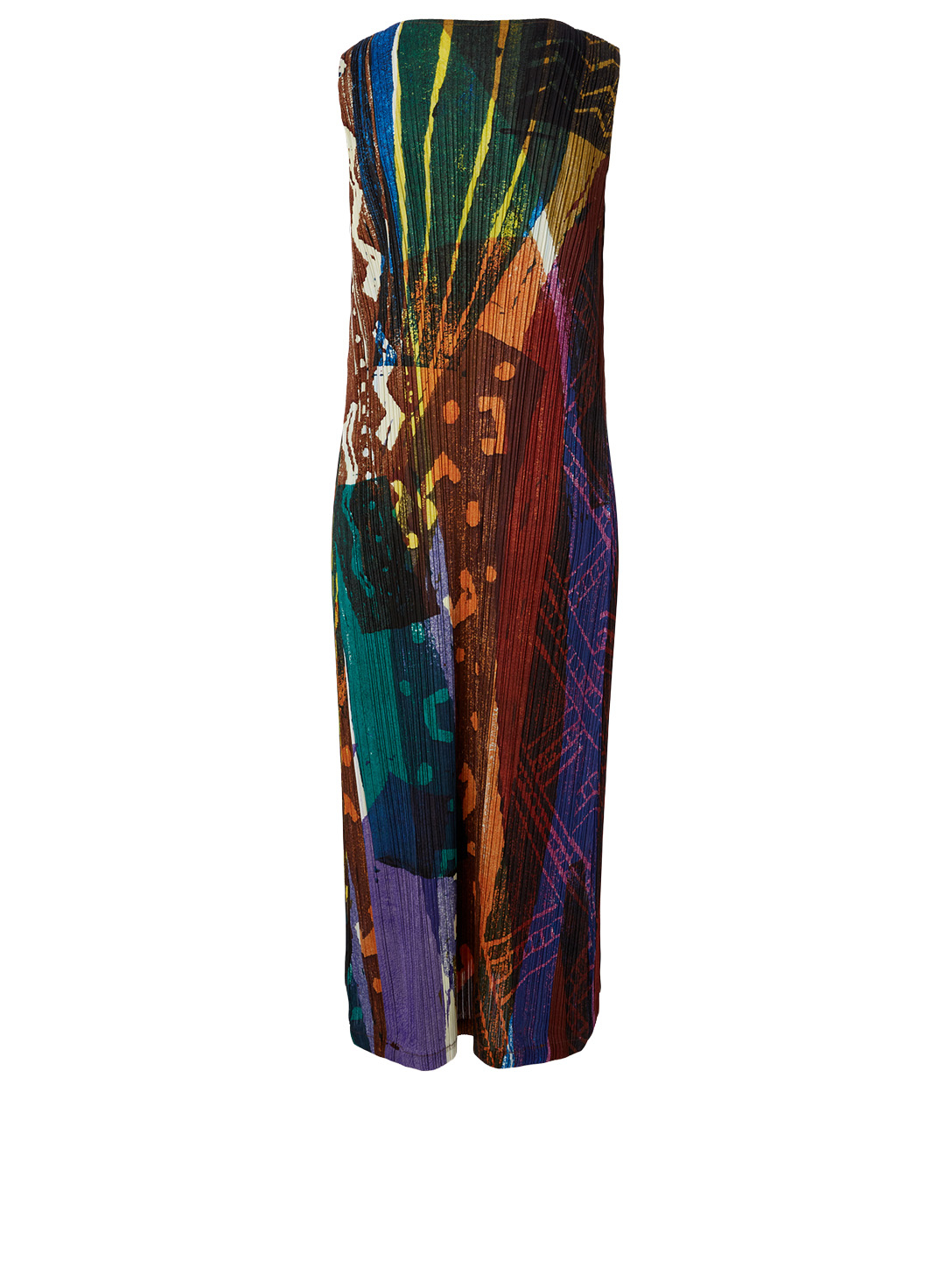 PLEATS PLEASE ISSEY MIYAKE Printed Sleeveless Dress Women's Multi