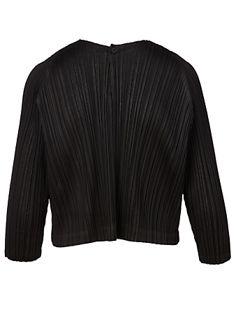 PLEATS PLEASE ISSEY MIYAKE Pleated Roundneck Top Women's Black