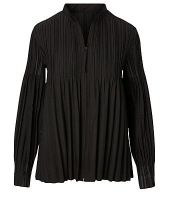PLEATS PLEASE ISSEY MIYAKE Long-Sleeve Zip Top Women's Black