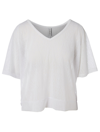 VARLEY Marr V-Neck T-Shirt Women's White