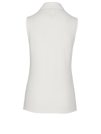 TORY SPORT Ruffle Polo Shirt Women's White