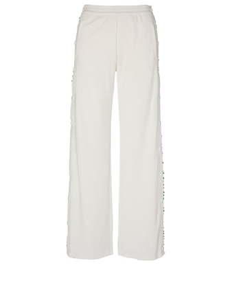 TORY SPORT Ruffle Tear-Away Pants Women's White