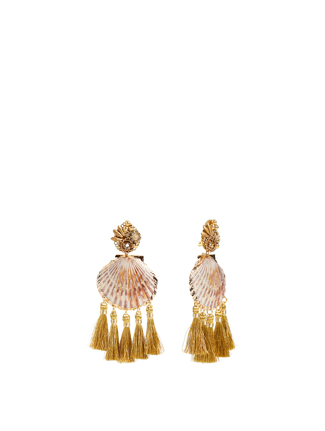 MERCEDES SALAZAR Rose Coquille Gold-Plated Drop Earrings H Project No Color