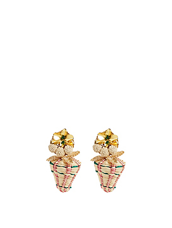 MERCEDES SALAZAR Goldenen Raphia Strawberries Gold-Plated Drop Earrings H Project No Color