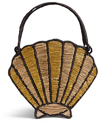 Beach Walk Palm Seashell Bag