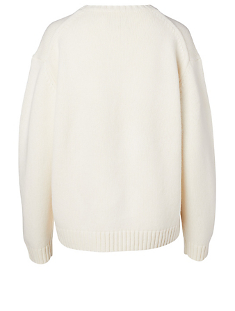TORY SPORT Chunky Wool Pixel Little Grumps Sweater Women's White