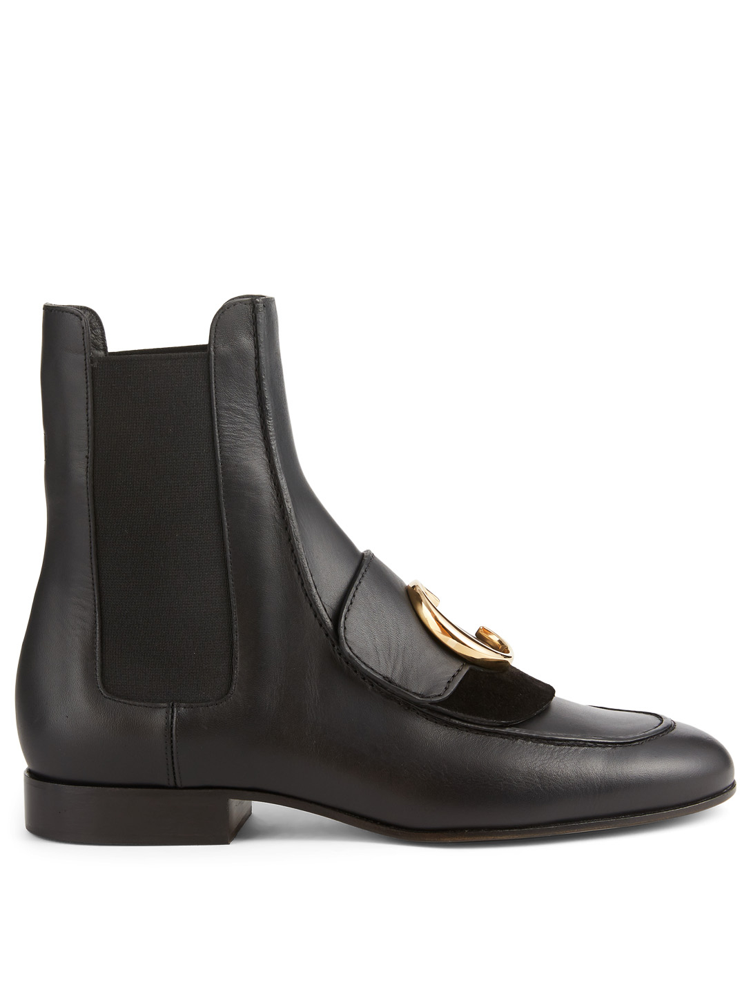 CHLOÉ Chloé C Leather Chelsea Boots Women's Black