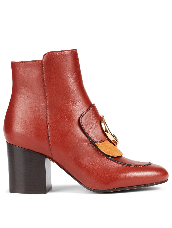 a4be1902d4 CHLOÉ Chloé C Leather Ankle Boots | Holt Renfrew
