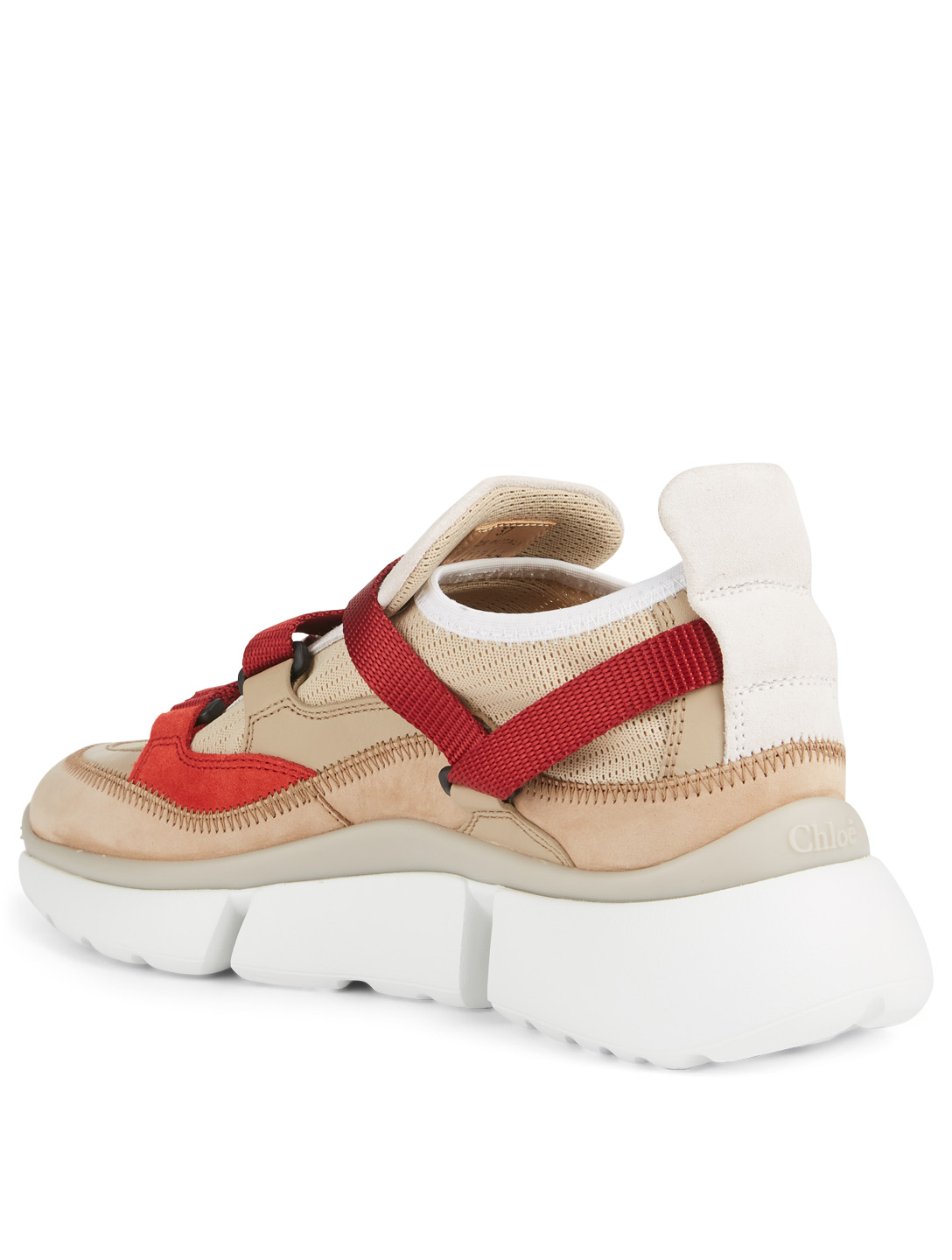 CHLOÉ Sonnie Suede And Mesh Sneakers Women's Neutral