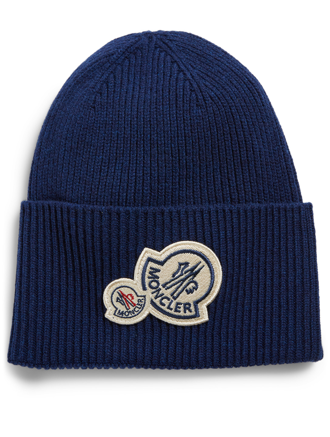 MONCLER Wool And Cashmere Knit Toque Men's Blue