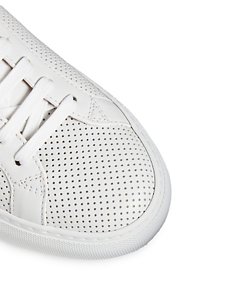 GIVENCHY Urban Street Perforated Leather Sneakers Women's White