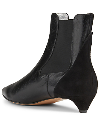 GIVENCHY GV3 Leather And Suede Chelsea Boots Women's Black