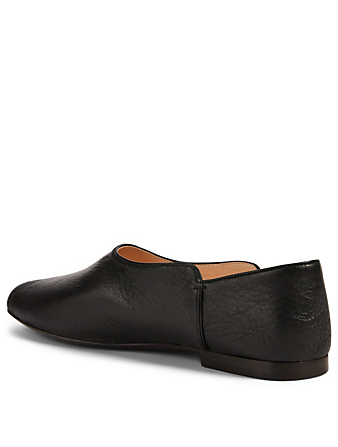 THE ROW Boheme Leather Slippers Women's Black