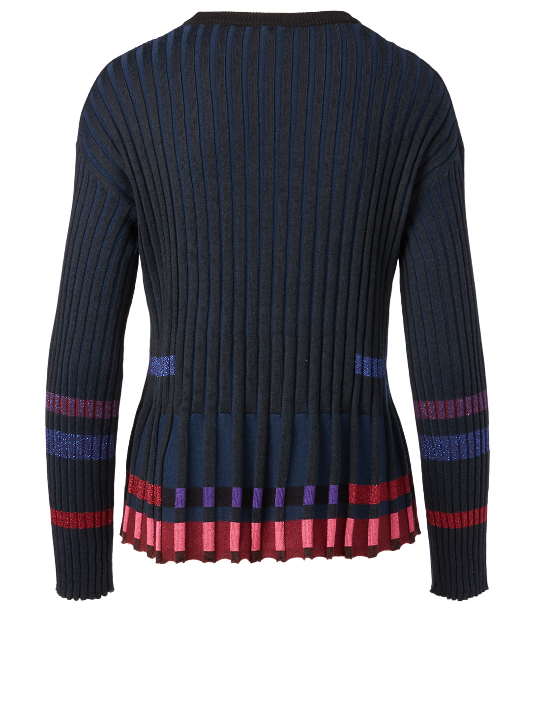 KENZO Pleated Long-Sleeve Sweater Women's Black