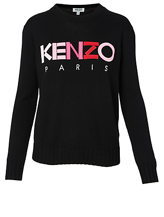 KENZO Wool Logo Sweater Women's Black