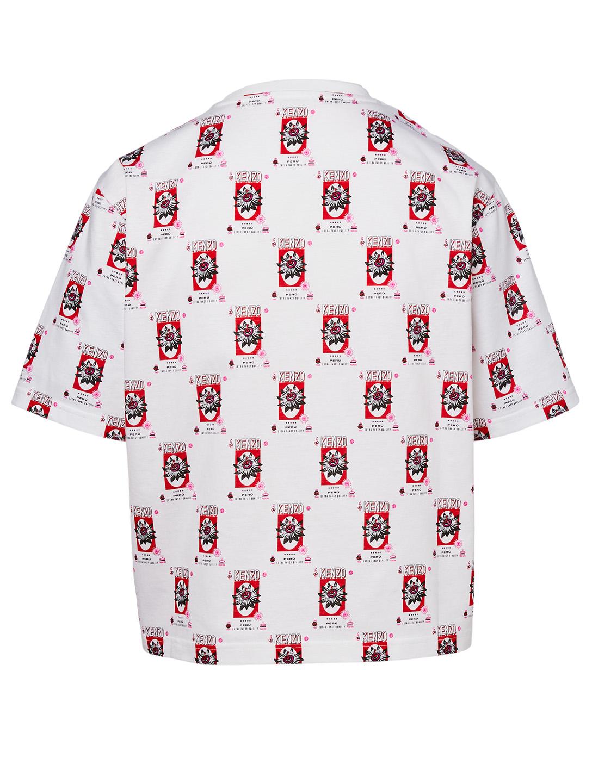 610f848ad2e ... KENZO Boxy T-Shirt In Rice Bags Print Women's White