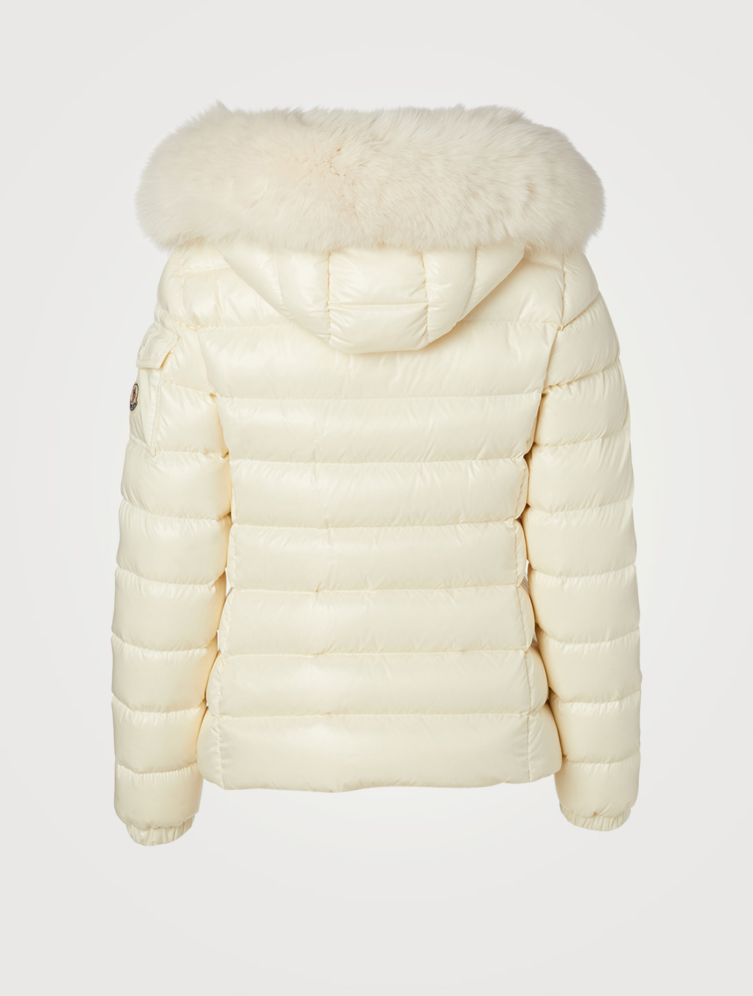 MONCLER Badyfur Down Coat With Fur Women's White
