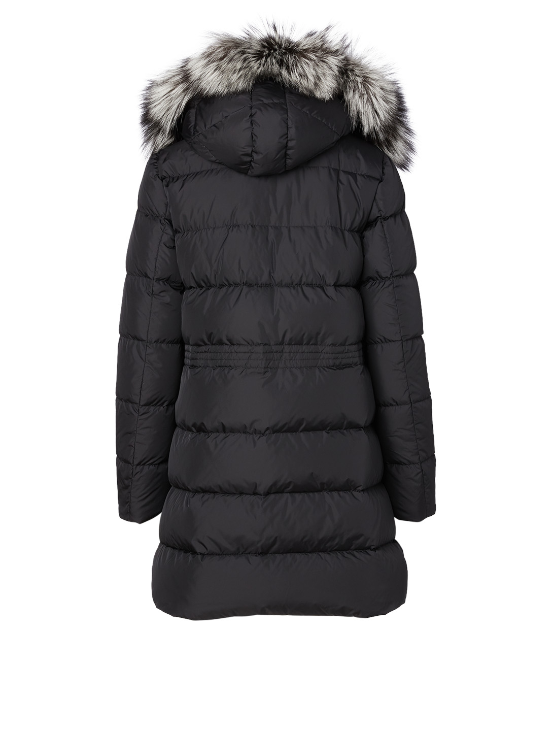 MONCLER Aphroti Down Parka With Fur Trim Hood Women's Black