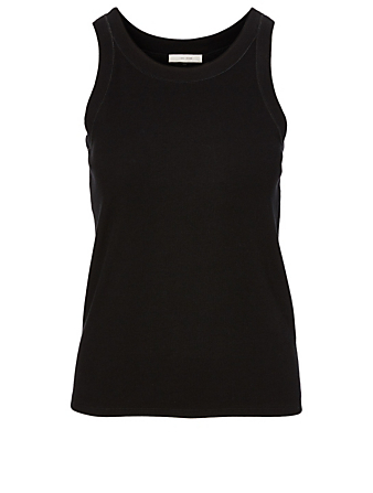 THE ROW Firala Cotton Tank Top Women's Black