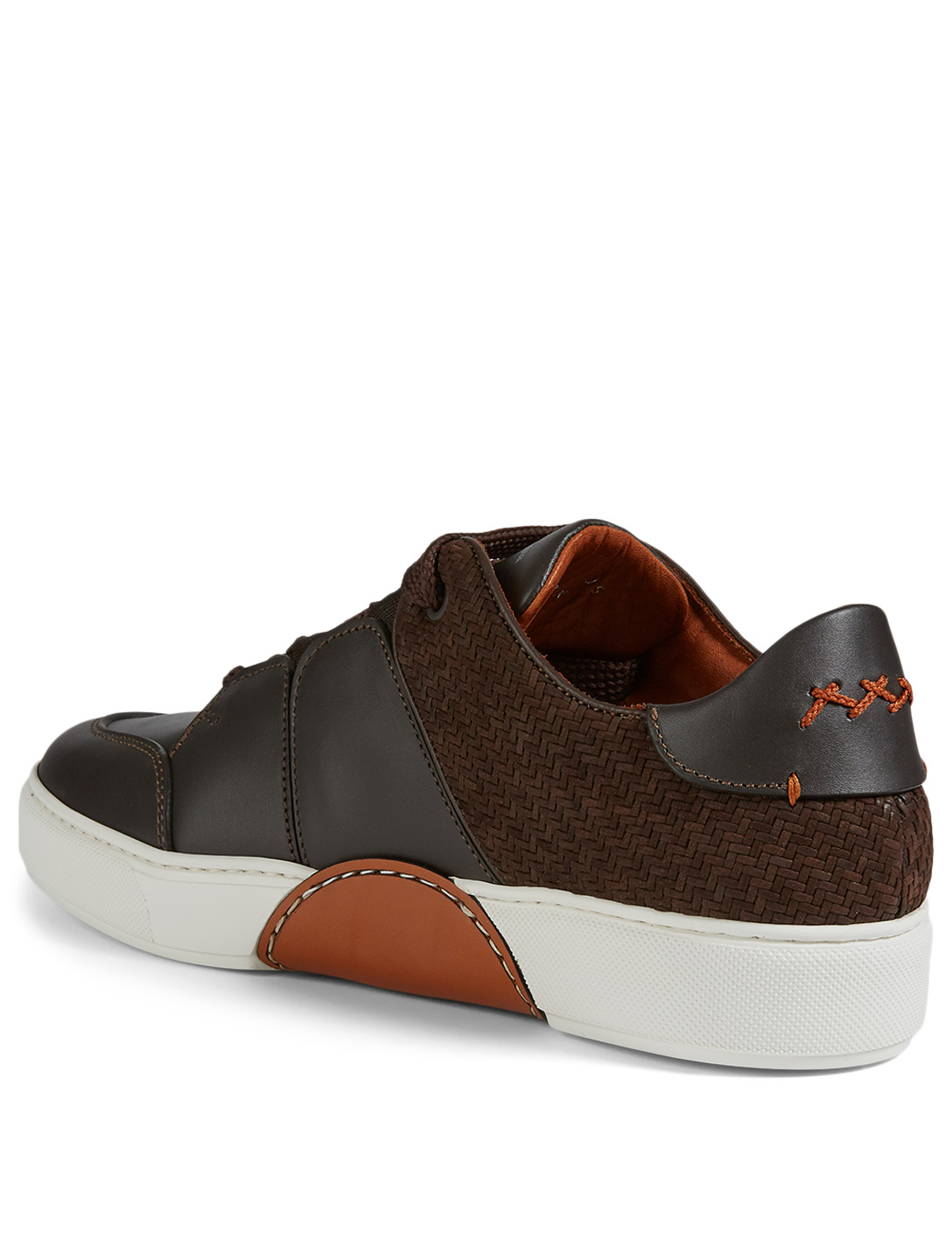 ERMENEGILDO ZEGNA Tiziano Pelletessuta™ Leather Sneakers Men's Brown
