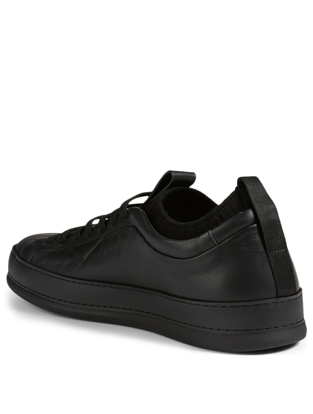 ERMENEGILDO ZEGNA Imperia Leather Sneakers Men's Black