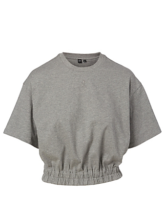 OPENING CEREMONY Cotton Cropped T-Shirt Women's Grey
