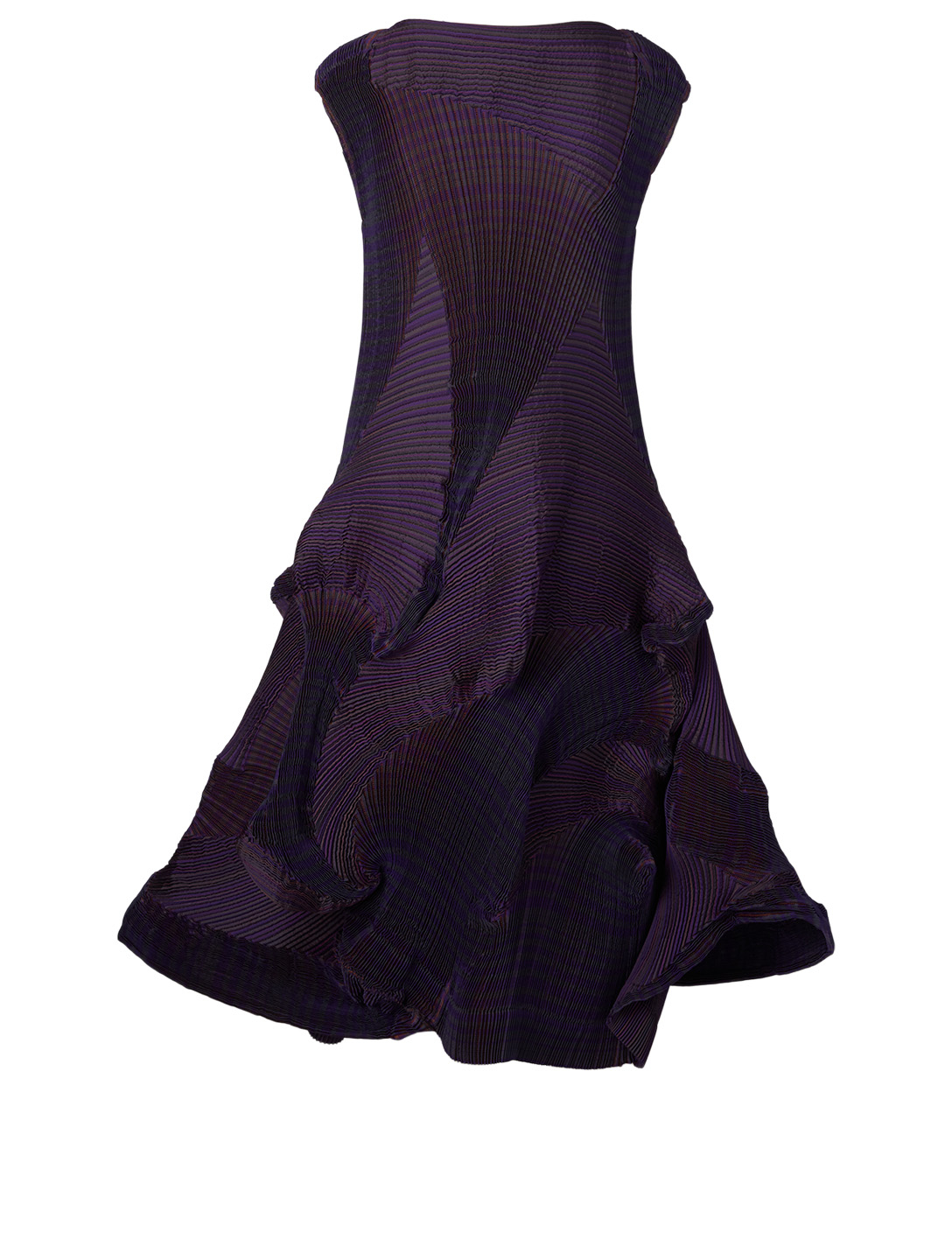 ISSEY MIYAKE Corona Sleeveless Dress Women's Purple