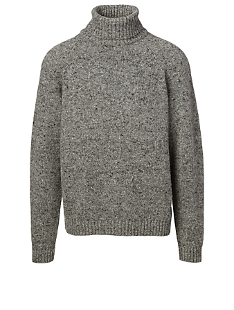 THE ROW Asher Camel Hair Sweater Men's Grey