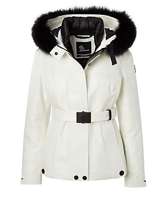 MONCLER GRENOBLE Laplance Down Jacket With Fur Hood Women's White