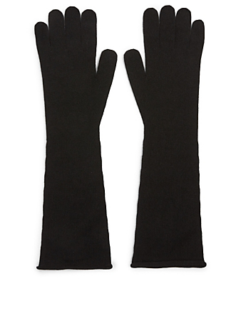 MAX MARA Azzurro Cashmere Gloves Women's Black