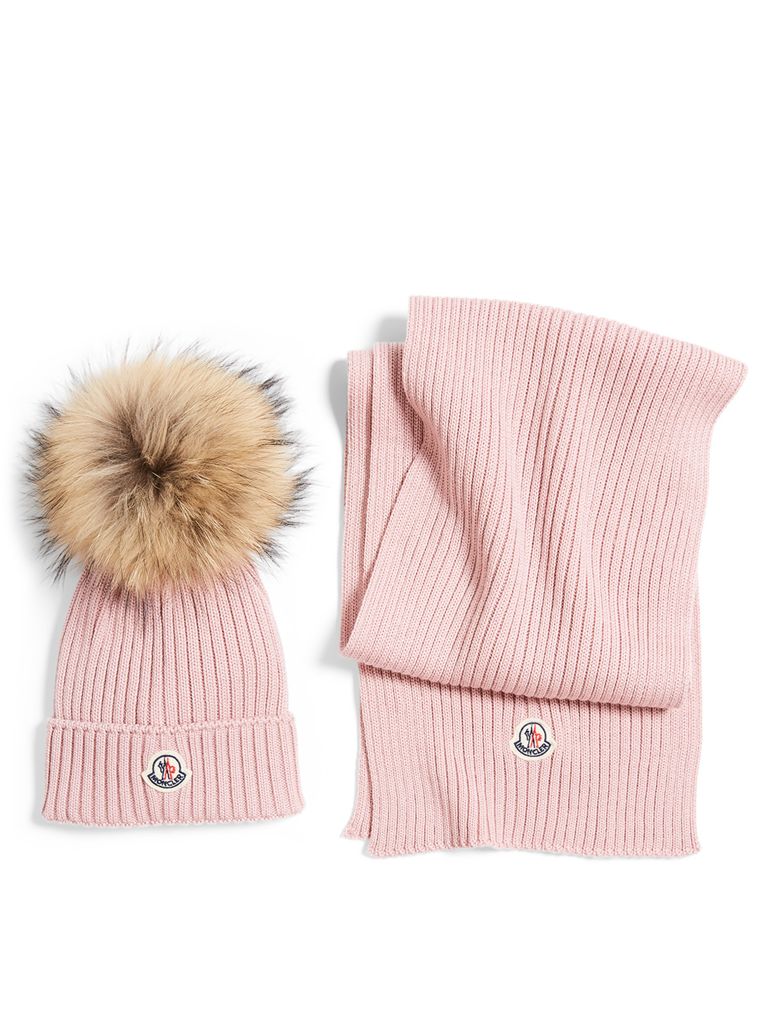 MONCLER ENFANT Kids' Wool Toque And Scarf Box Set Kids Pink