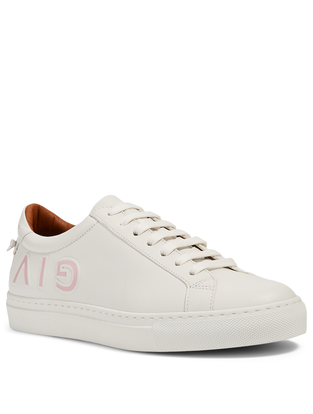 GIVENCHY Urban Street Leather Reverse Logo Sneakers Women's Pink