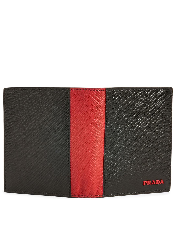 e4bf3bfa0a2e PRADA Two-Tone Saffiano Leather Bifold Wallet | Holt Renfrew