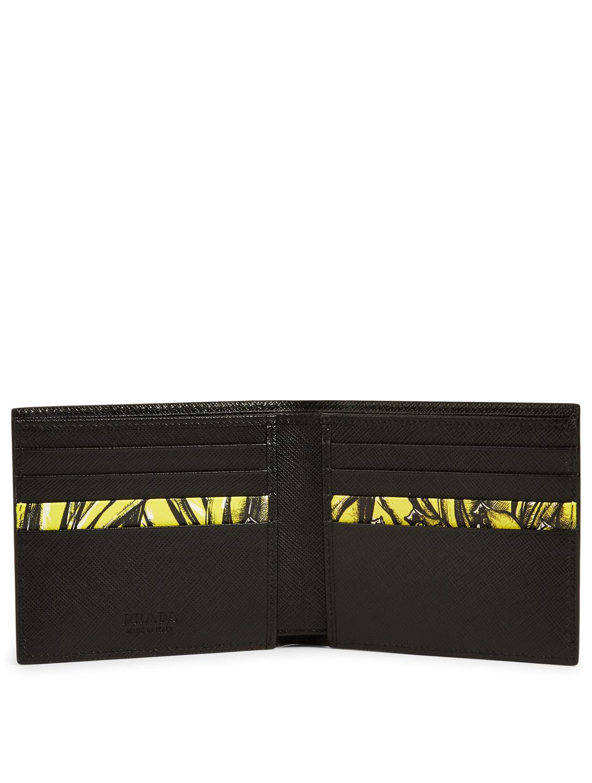 c0db4014 PRADA Saffiano Leather Bifold Wallet With Banana Print   Holt Renfrew