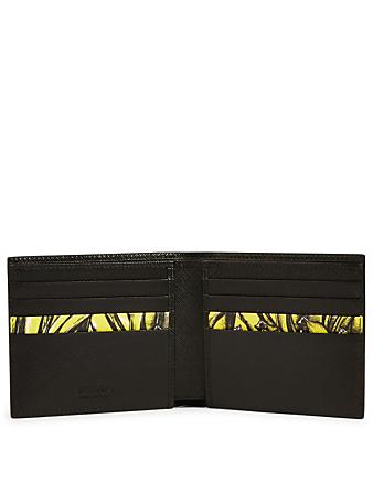 d7765df2 PRADA Saffiano Leather Bifold Wallet With Banana Print | Holt Renfrew