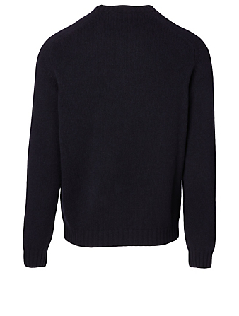 MONCLER GENIUS 2 Moncler 1952 + Valextra Wool Sweater Men's Blue